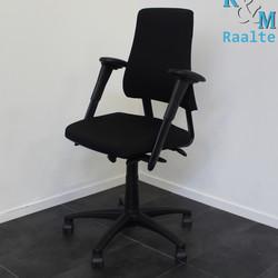 BMA Axia Bureaustoel - Hoge Rug - Zwart/Zwart (Nieuwe Stof)