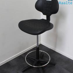Baliestoel - Werkstoel - Polyurethaan - Zwart/Zwart