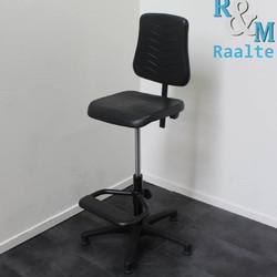 Werkstoel - Baliestoel - Zwart/Zwart (Nieuw)