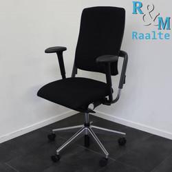Grahl Xenium bureaustoel - Zwart/Chroom (Nieuwe stof)