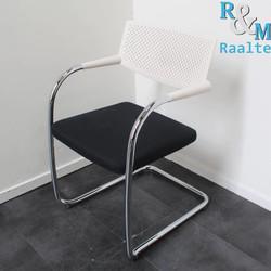 Vitra Visavis Design Vergaderstoel - Wit/Zwart