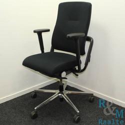 Grahl Xenium bureaustoel - Zwart/Chroom - (Gebruikte stof)
