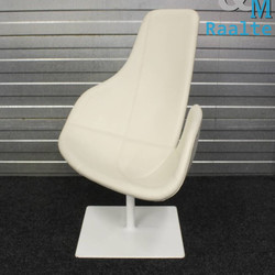 Moroso Fjord Draaibare Leren Relax Fauteuil Creme/Wit