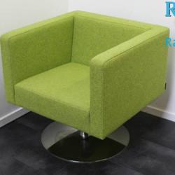 Design Fauteuil van Offecct draaibaar, Groen met Chroom