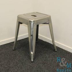 Design kruk - Metaal - grijs