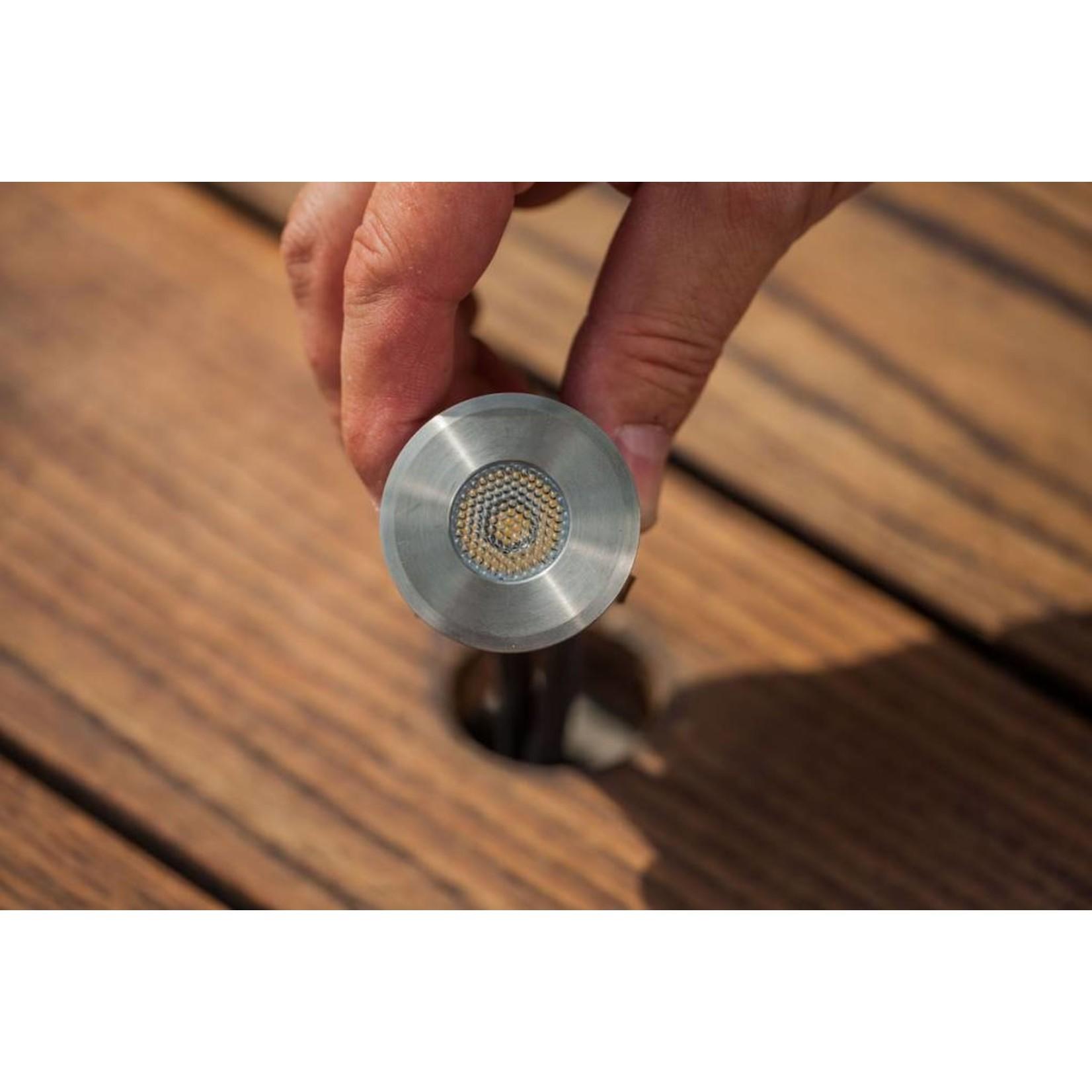 Smart Light vlonderverlichting 1W warm wit RVS