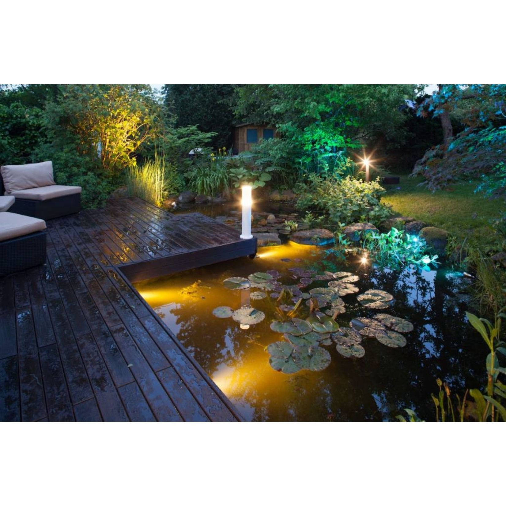 Smart Light tuinlamp 7W warm wit metaal