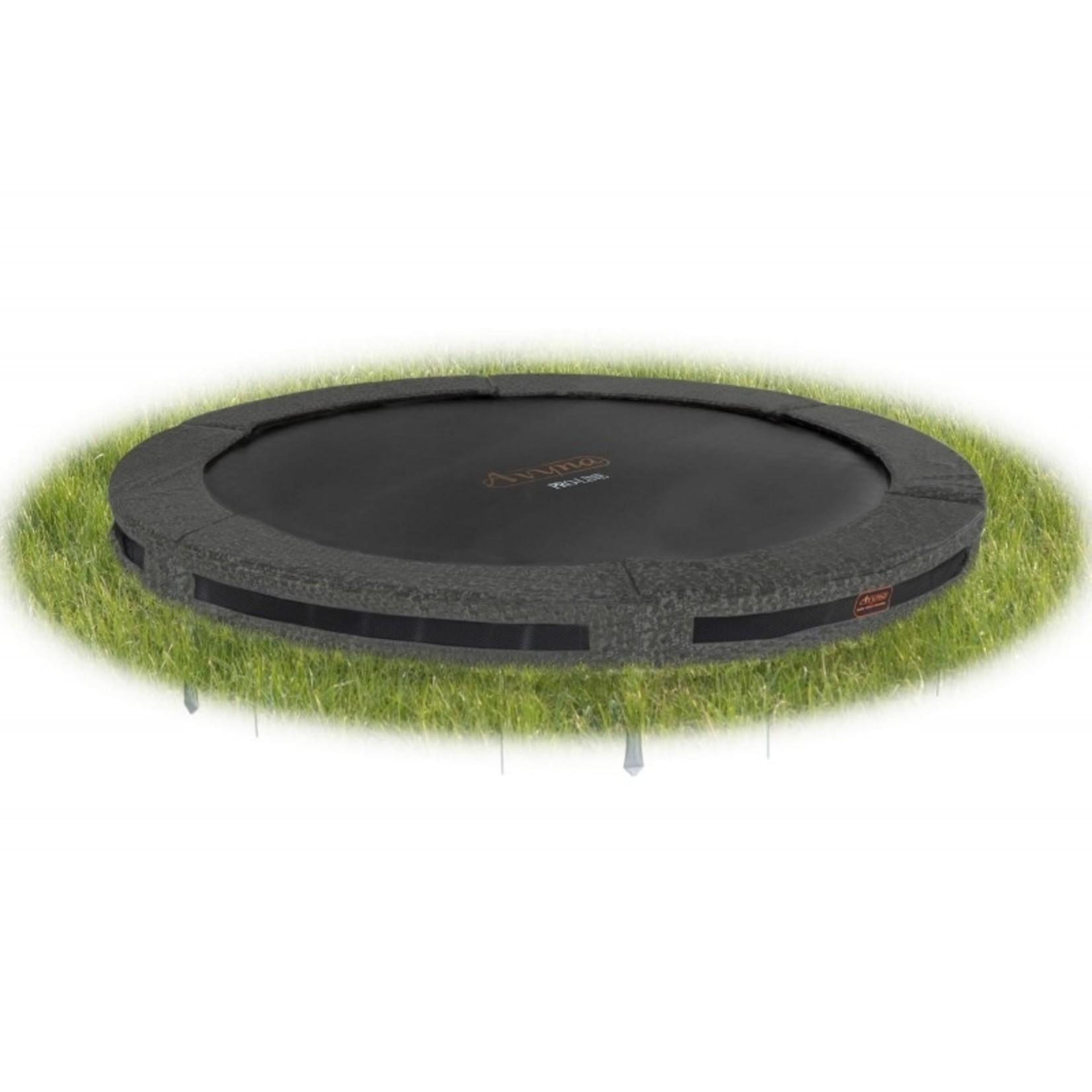 De ideale ronde trampoline voor in de grond, Inground : de Avyna Pro-Line van Ø 365 cm