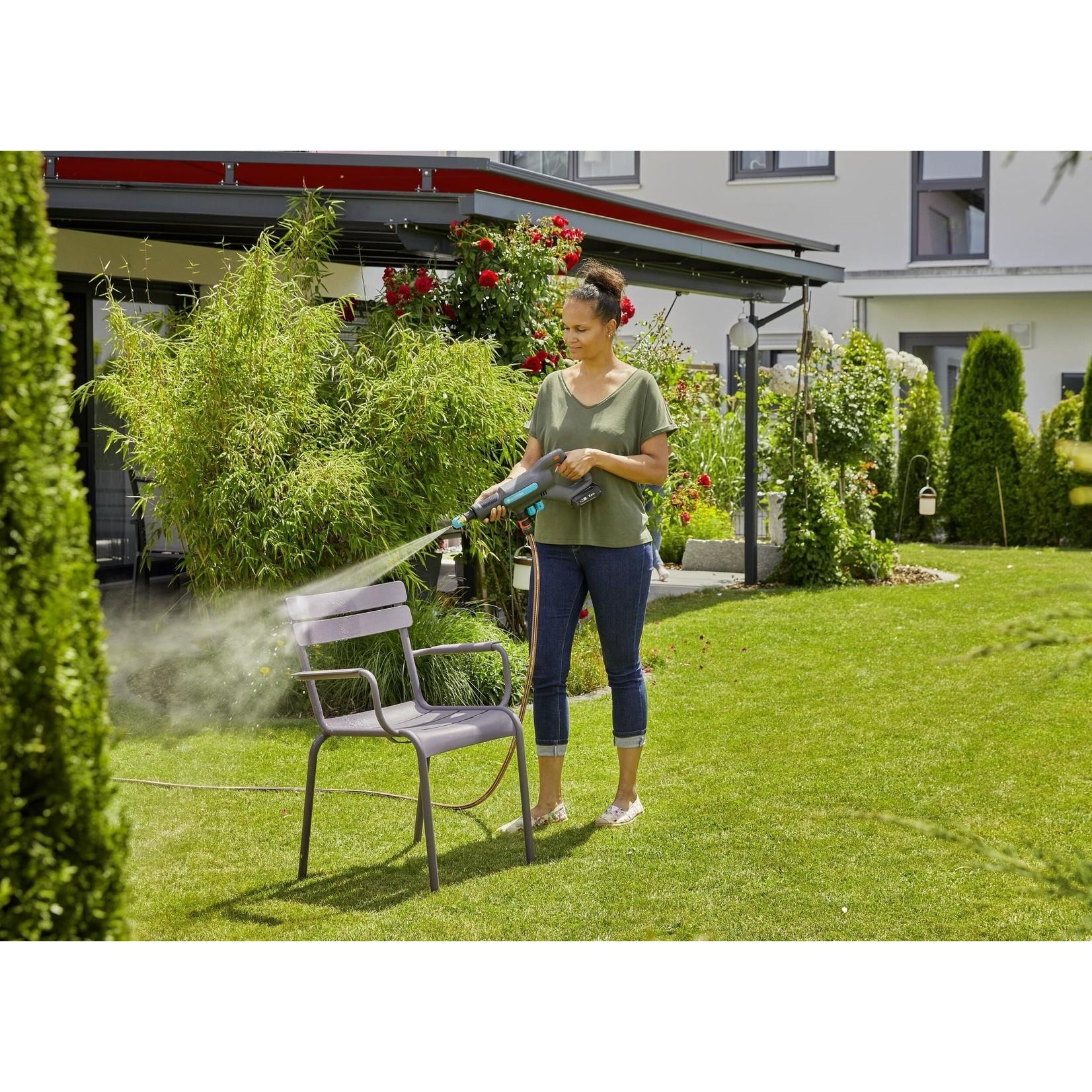 Gardena Gardena Accu hogedrukreiniger AquaClean 18V set