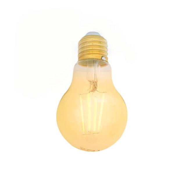 PURPL Bombilla LED E27 Regulable Filamento Ámbar A60 5W