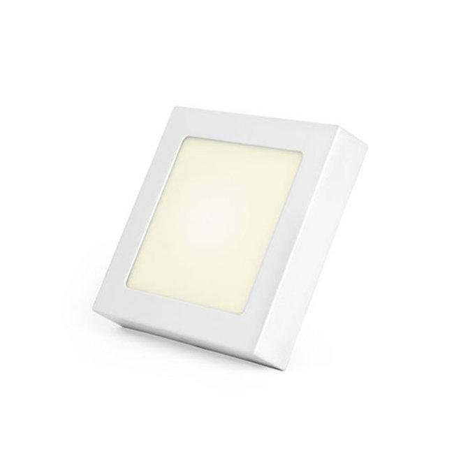 PURPL Plafón LED cuadrado 12W, 4000K, 170mm regulable
