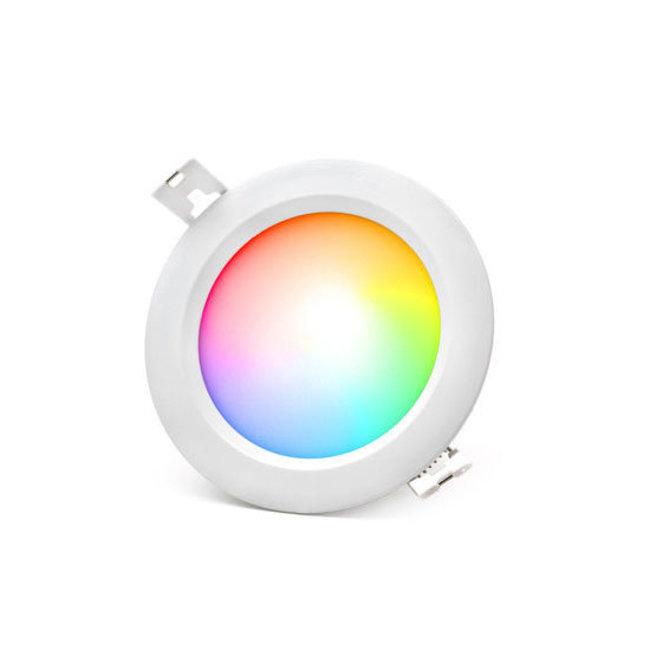 MI-LIGHT Downlight LED circular 6W, RGB+CCT, IP54, Ø108mm MiLight(miboxer)