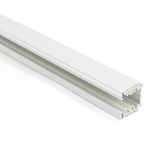 Powergear Carril trifásico con conector, 2,5m Blanco