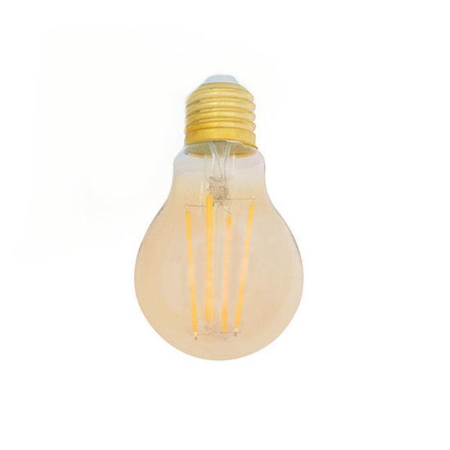 PURPL Bombilla LED E27 Regulable Filamento ámbar A60 8W