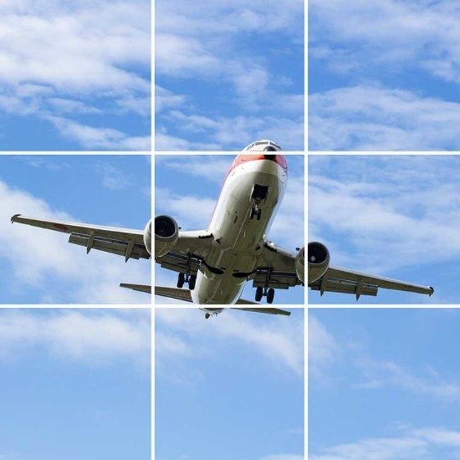 PURPL Techo de Nubes y Avión | Panel de techo fotográfico de acrílico | [IMG13]