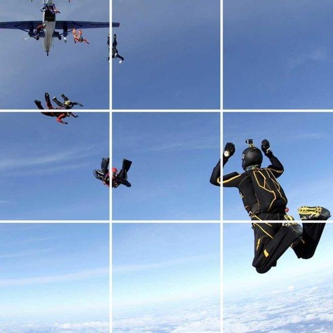 PURPL Techo de Nubes y Paracaidistas   Panel de techo fotográfico de acrílico   [IM