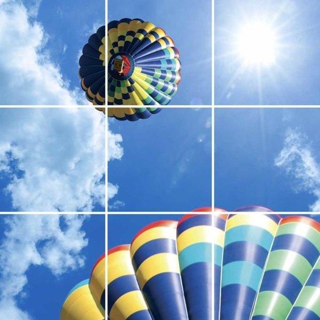 PURPL Techo de Nubes y Globo Aerostático | Panel de techo fotográfico de acrílico