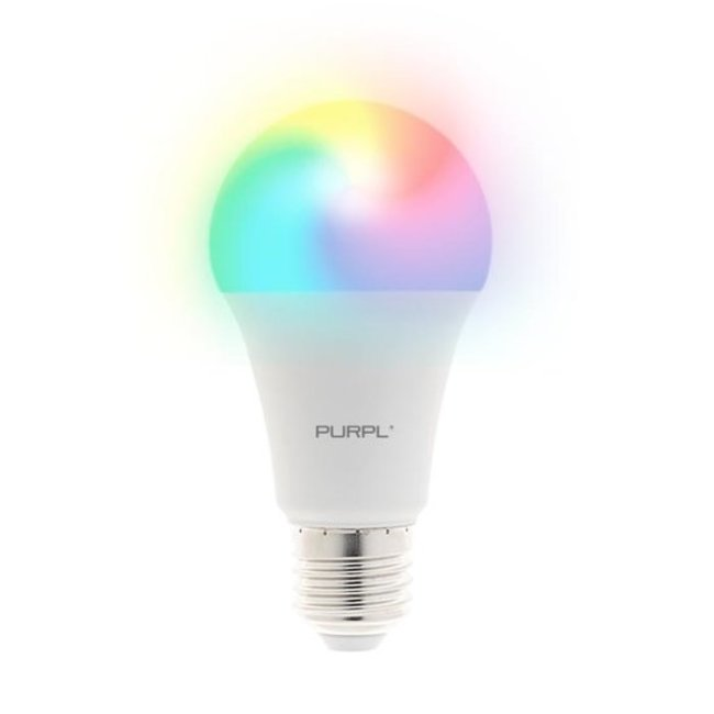 PURPL Lámpara LED inteligente RGB+CCT A60 E27 7W