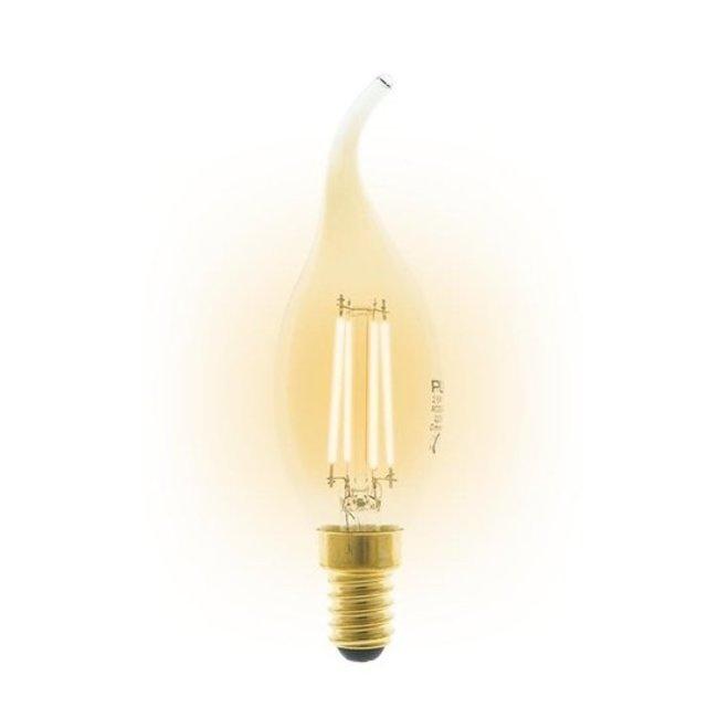 PURPL E14 LED Bombilla de filamento 2,5W 2200K regulable vela C35T
