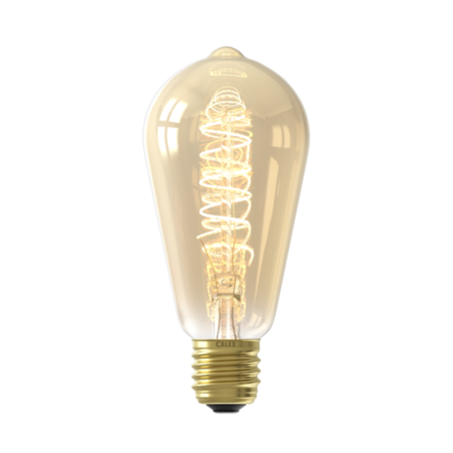 Calex Calex E27 LED Bombilla de filamento Flex Rustik Gold 2100K 4W Regulable