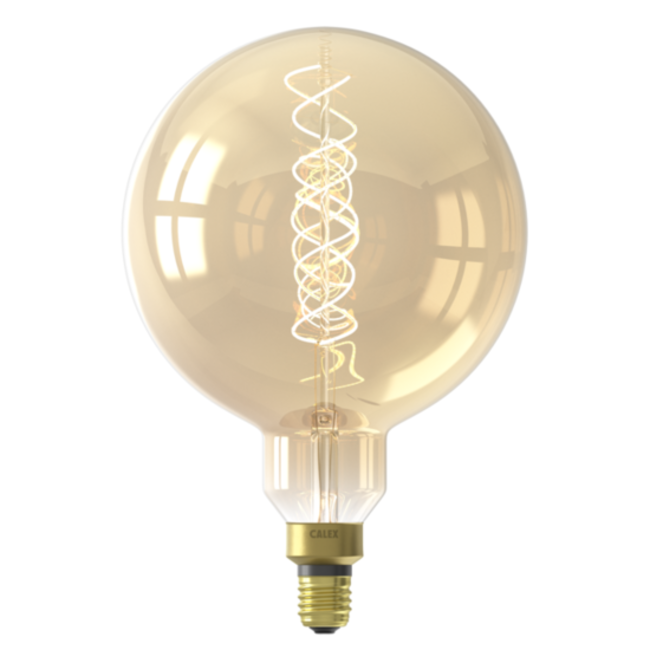 Calex Calex E27 LED Bombilla de filamento Megaglobe Gold 2100K 4W Regulable