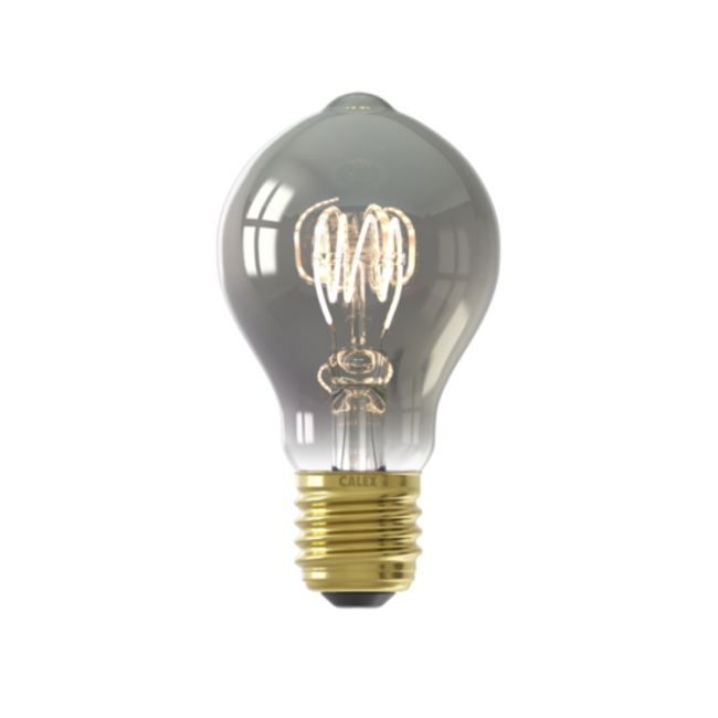 Calex Calex E27 LED Bombilla de filamento Flex GLS A60 Titanium 2100K 4W Regulable