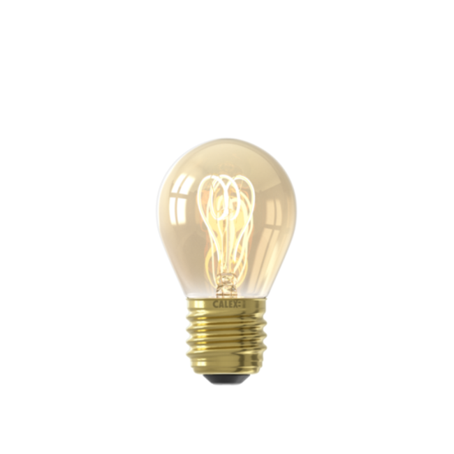 Calex Calex E27 LED Bombilla de filamento Flex Ball Gold 2100K 4W Regulable
