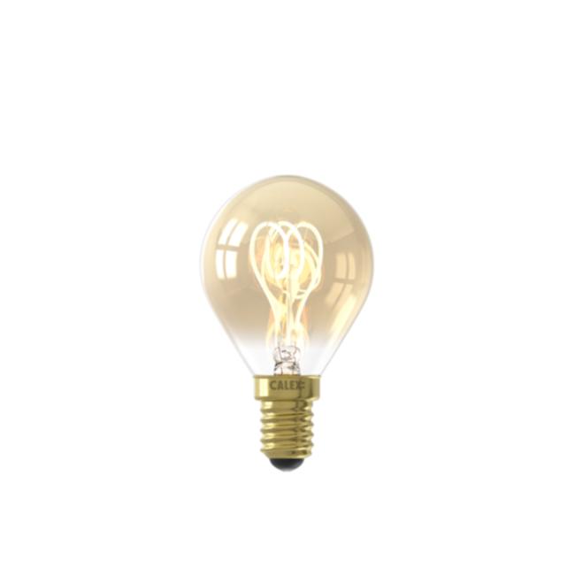 Calex Calex E14 LED Bombilla de filamento Flex Ball Gold 2100K 4W Regulable
