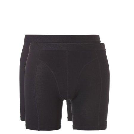 Ten Cate Heren Bamboo shorts long 2-Pack - Zwart