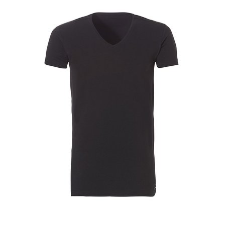 Ten Cate Heren Basic V-shirt - 2-Pack- Zwart