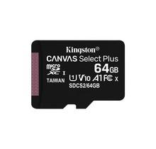 Kingston Technology Canvas Select Plus flashgeheugen 64 GB MicroSDXC UHS-I Klasse 10