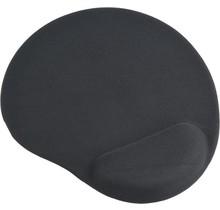 Gembird MP-GEL-BLACK muismat  met gel polssteun, zwart