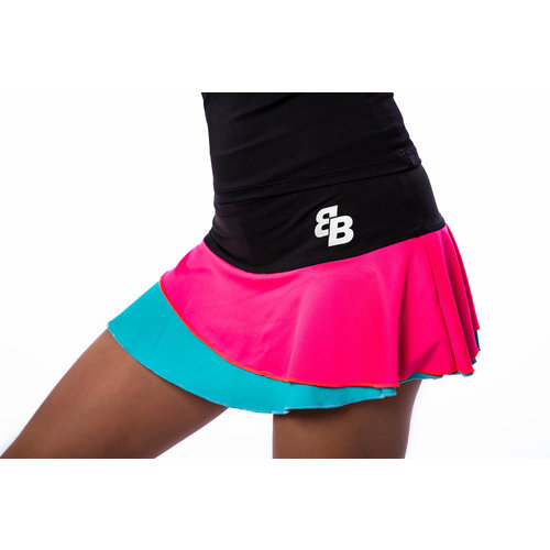 BB by Belen Berbel Skirt Barcelona Pink Blue