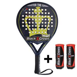 Black Crown Wolf Starterpack   Racket + 6 ballen