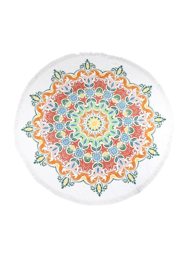 Strandlaken diameter 160 cm nr.2066 multi