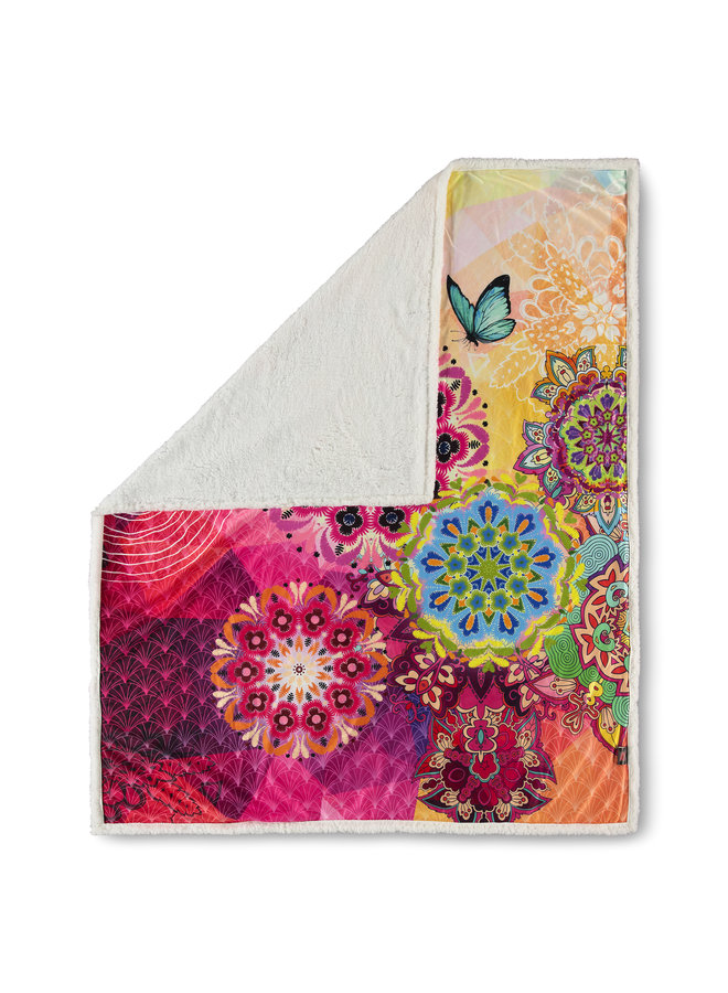 Plaid 130x160 polyester nr.6495 multi