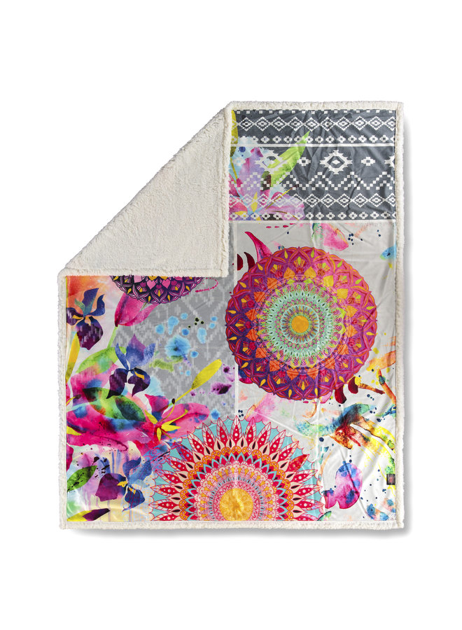 Plaid 130x160 polyester nr.6344 multi