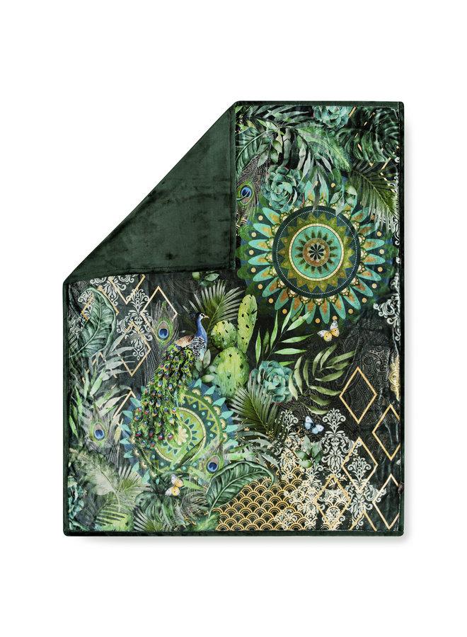 Plaid 130x160 polyester nr.2300 groen