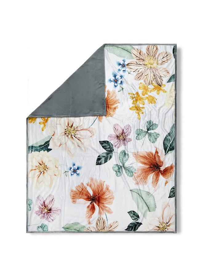 Plaid 130x160 polyester nr.20018 offwhite