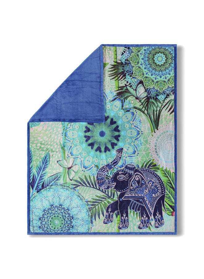 Plaid 130x160 polyester nr.6795 blauw