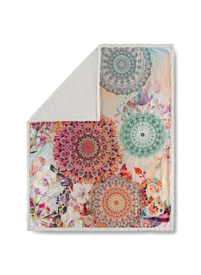 Plaid 130x160 polyester nr.6331 multi