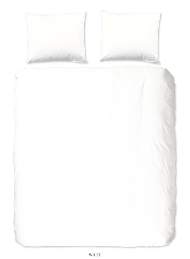 Dekbedovertrek Lits jumeaux 240x220 katoen sv wit