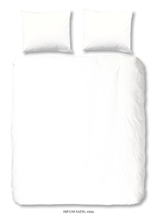 Dekbedovertrek Lits-jumeaux 240x220 katoen-satijn wit