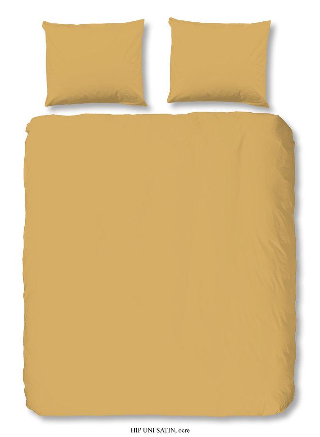 Dekbedovertrek Lits-jumeaux 240x220 katoen-satijn oker