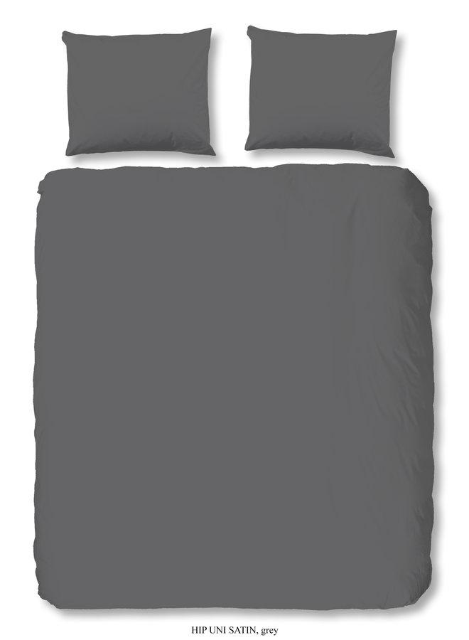 Dekbedovertrek Lits-jumeaux 240x220 katoen-satijn grijs