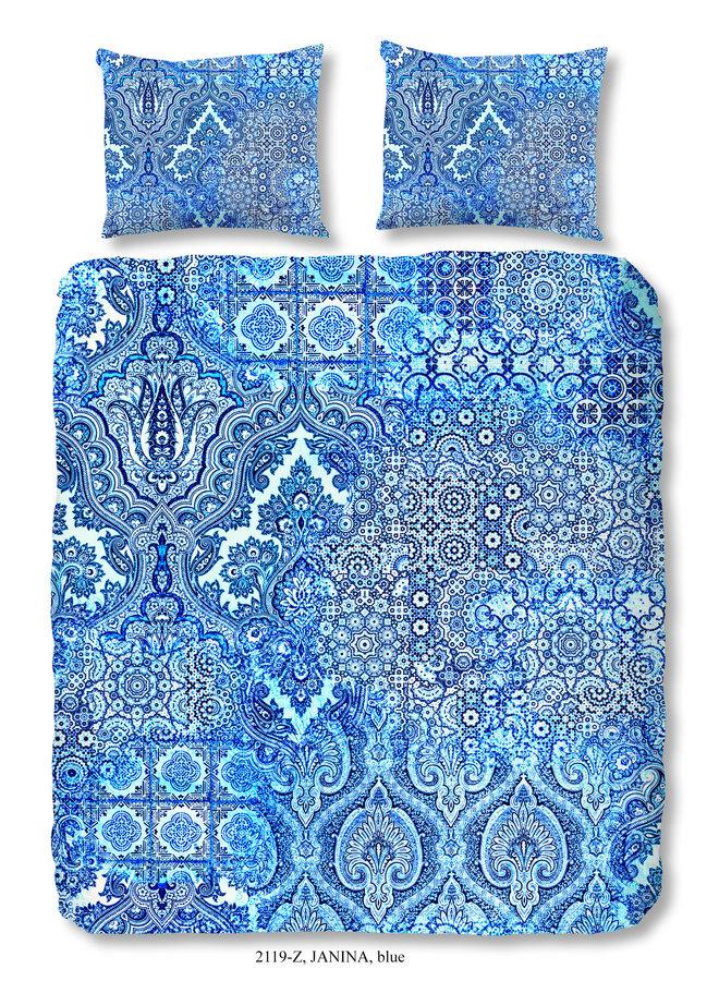 Dekbedovertrek 200x220 katoen-satijn nr.2119 blauw