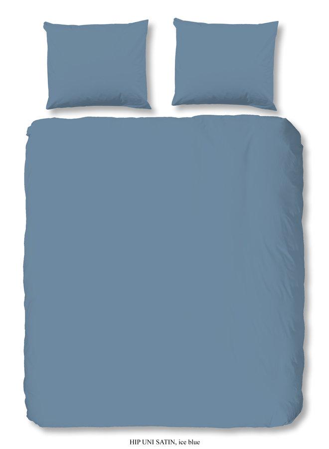 Dekbedovertrek 2 persoons 200x220 katoen-satijn ice blauw