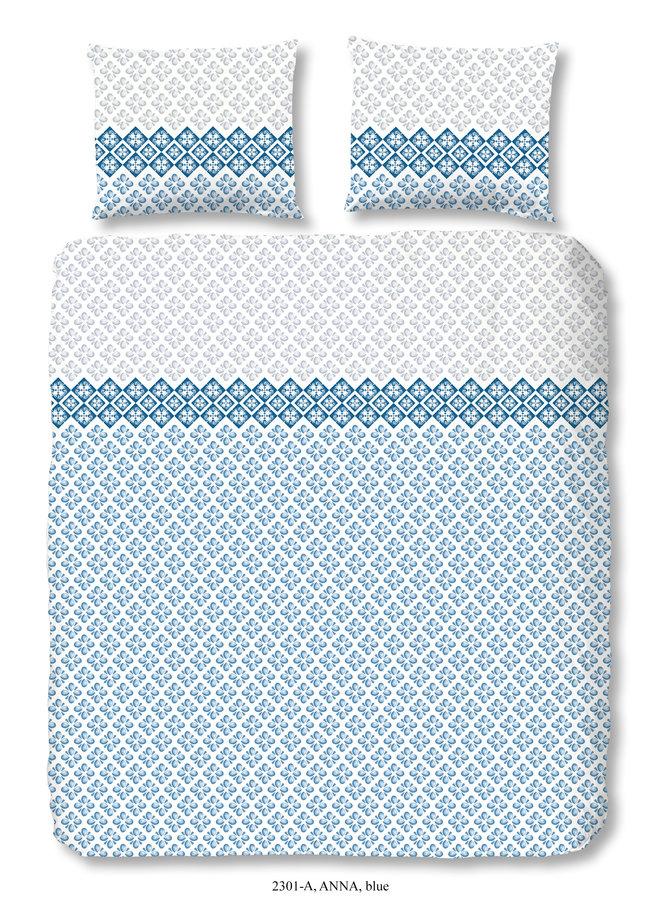 2-persoons dekbedovertrek 200x220 nr.2301 blauw