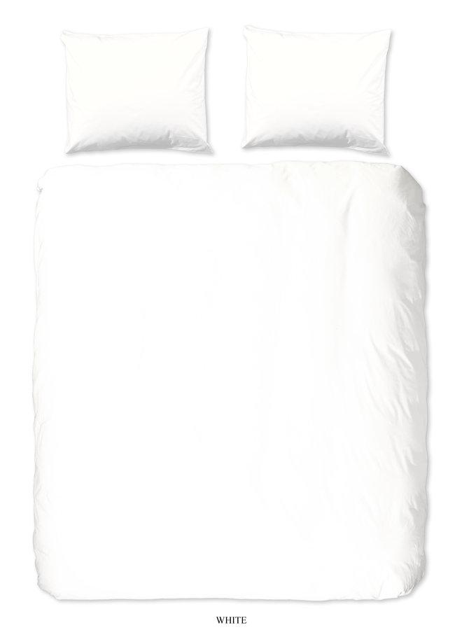 2-persoons dekbedovertrek 200x220 katoen sv wit