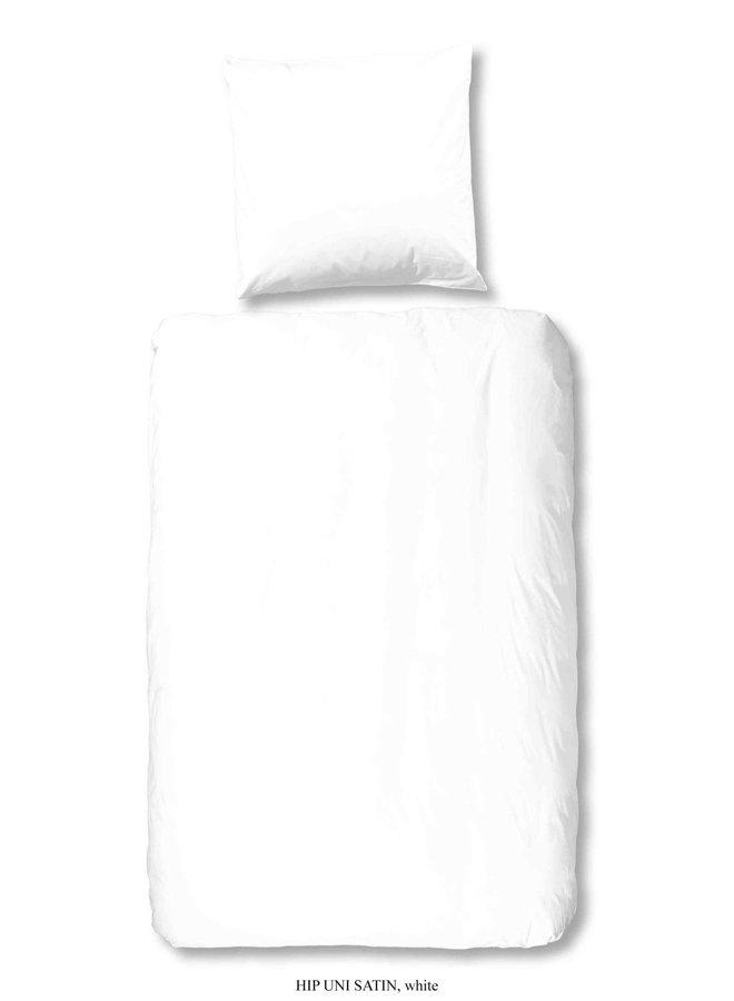 1-persoons dekbedovertrek 140x220 katoen-satijn wit